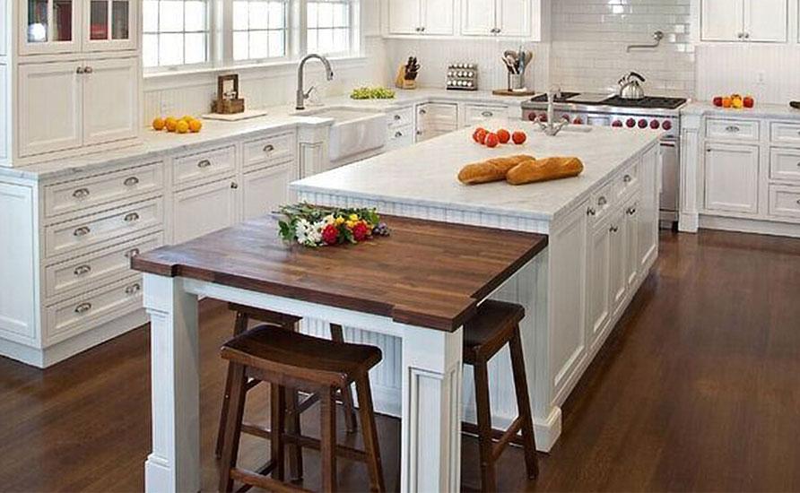 استفاده از وسایل چوبی در دیزاین آشپزخانه