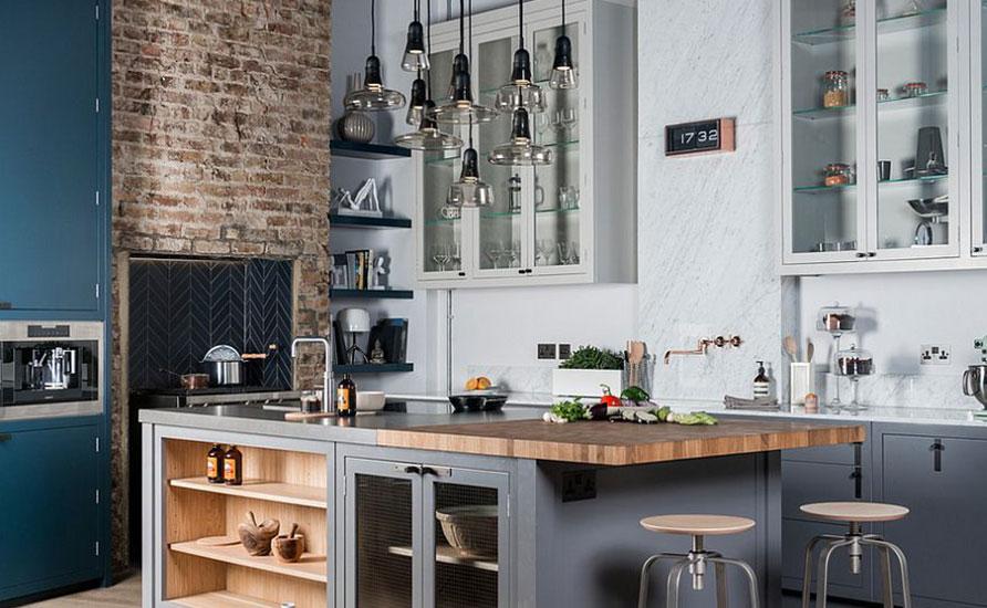 دکوراسیون آشپزخانه به سبک صنعتی